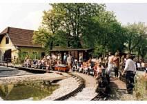 Minidampfbahn beim Wirtshaus zur Minidampfbahn