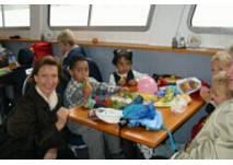 Kindergeburtstag auf dem Schiff mit der MS Marbach