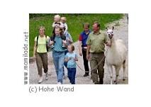 Lamawanderung durch den Naturpark Hohe Wand