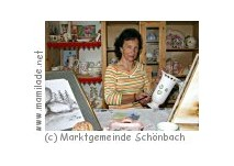 Besuch bei der malenden Bäuerin Leopoldine Prock, Schönbach
