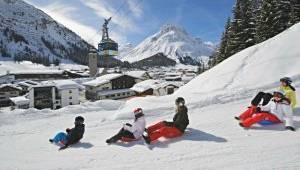 Rodel- und Bobbahn von Oberlech nach Lech