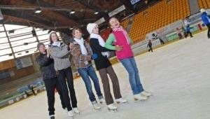 Eislaufen in der Vorarlberghalle in Feldkirch