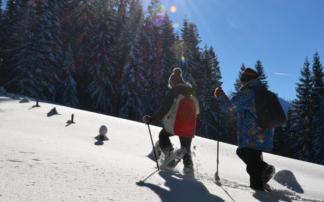 Familien Schneeschuhwandern