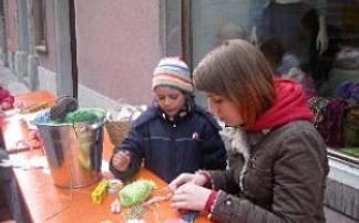 Ostermarkt am Sparkassenplatz in Feldkirch
