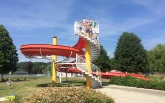 Die Wasserrutsche im Freibad Gallneukirchen