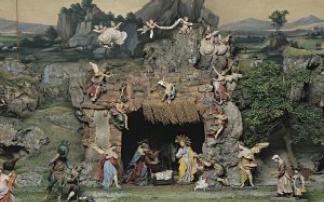 Krippen schauen im Tiroler Volkskunstmuseum in Innsbruck