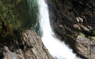Stuibenfall - tosender Wasserfall im Ötztal in Tirol