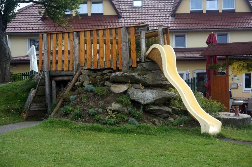 Rutschenturm - Spielplatz Gasthaus Lang in St.Ulrich