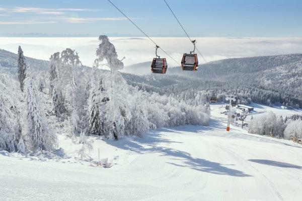 Skigebiet Hochficht im Böhmerwald
