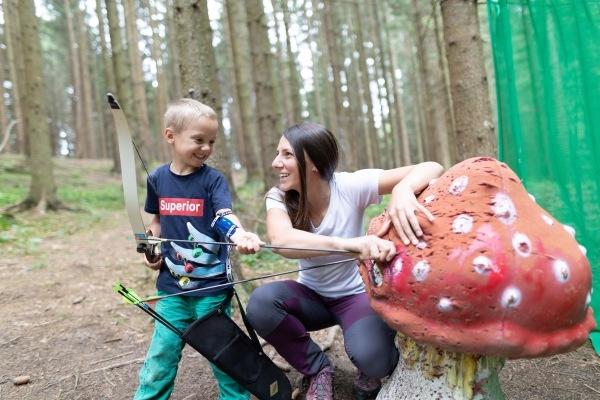 3d Bogenschießen für Familien am Wurbauerkogel