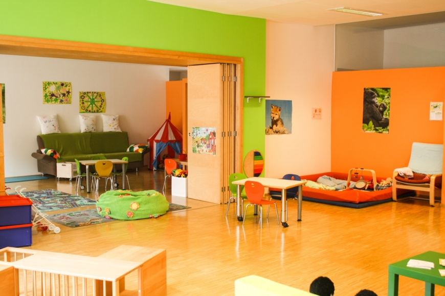 Das Familienwohnzimmer bietet ausreichend Platz