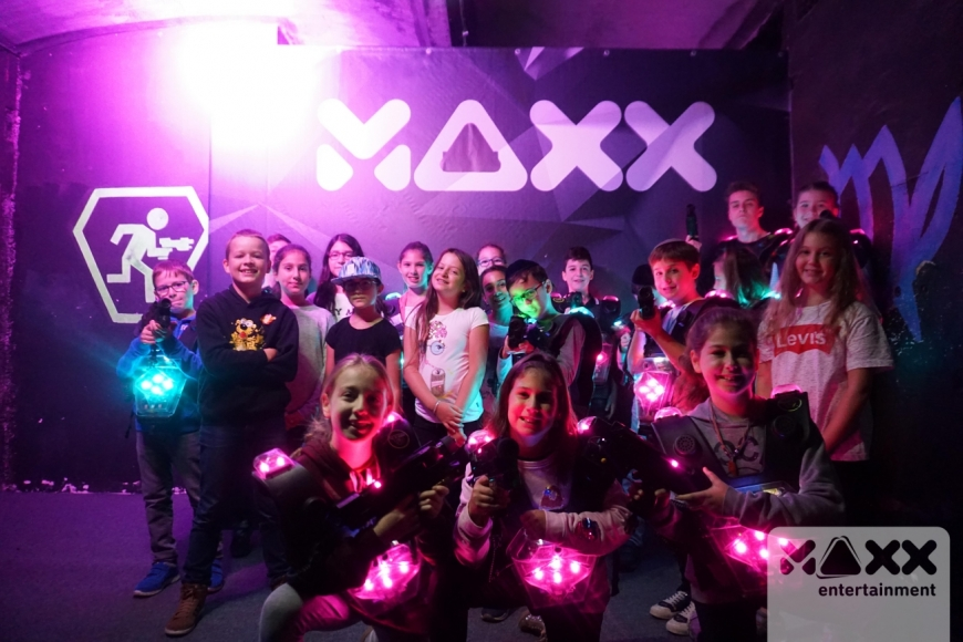 Cooler Kindergeburtstag im LaserMAXX
