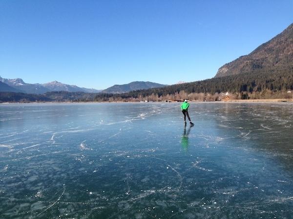 Eislaufen Pressegger See