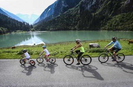 Familien Radweg: Tour zum Zillergrund