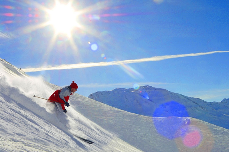 Skigebiet Sonnenkopf im Klostertal am Arlberg