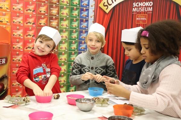 SchokoMuseum Kinder bei Verkostung