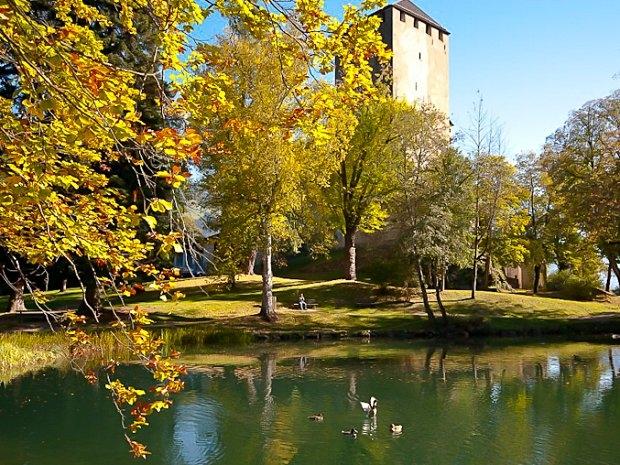Schloss Bruck in Lienz - Schlossteich