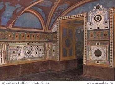 Wasserspiele in Salzburg in Hellbrunn