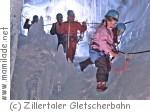 Natur Eis Palast im Hintertuxer Gletscher in Tux