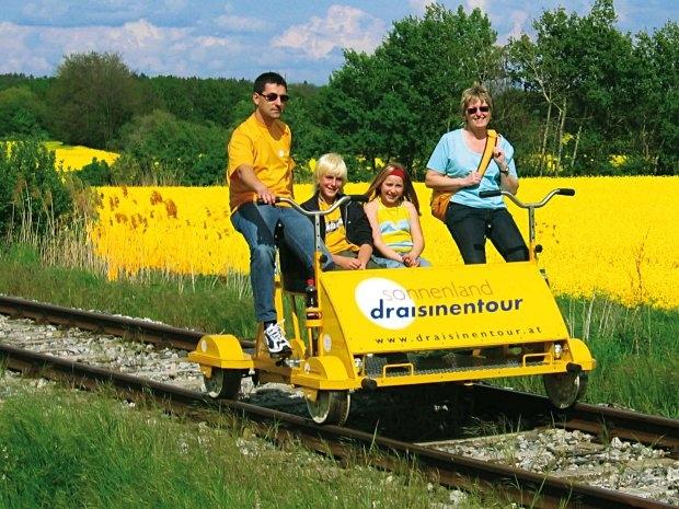 Sonnenland Draisinentour - Familienausflug