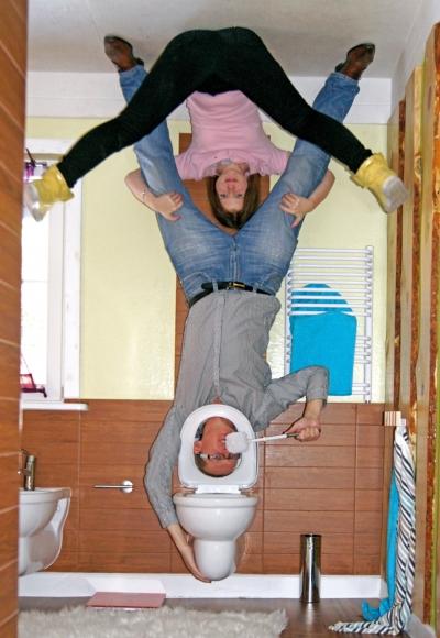 Vomperbach - Haus steht Kopf - Toilette
