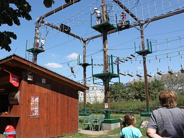 Kindergeburtstag im Kletterpark auf der Wiener Donauinsel