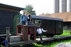 Kindergeburtstag mit dem Rheinbähnle ab Lustenau (c) Verein Rhein-Schauen