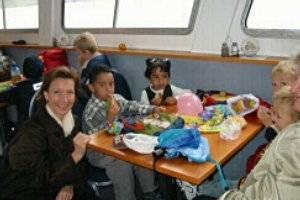 Kindergeburtstag auf dem Schiff (c) MS Marbach
