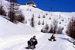 Rodelbahn im Skigebiet Golzentipp in Obertilliach (c) Obertilliacher Bergbahnen