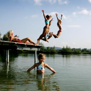 Badespaß am Feldkirchner Badesee