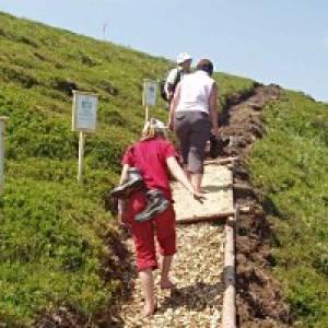 Gipfel Barfuß Weg