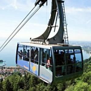 Mit der Pfänderbahn auf den Pfänder in Bregenz