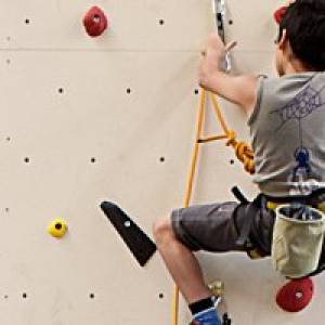 Kletterhalle climb on Marswiese
