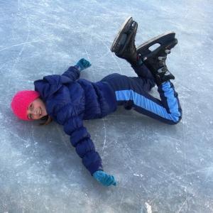 Symbolfoto Eislaufen Mühlwasser