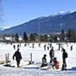 Natureislaufplatz Lansersee bei Innsbruck