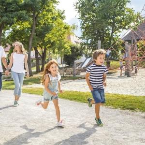 Kinderspielplatz in Schloss Hof