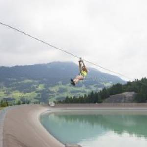 Flying-Fox-Golm  in Vandans (c) Illwerke Tourismus