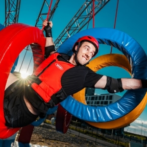 Wipeout-Actionpark vor dem Parndorf Fashion Outlet