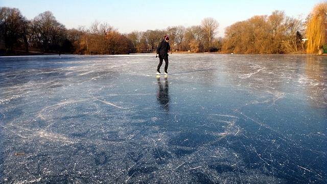 Eislaufen Alte Donau