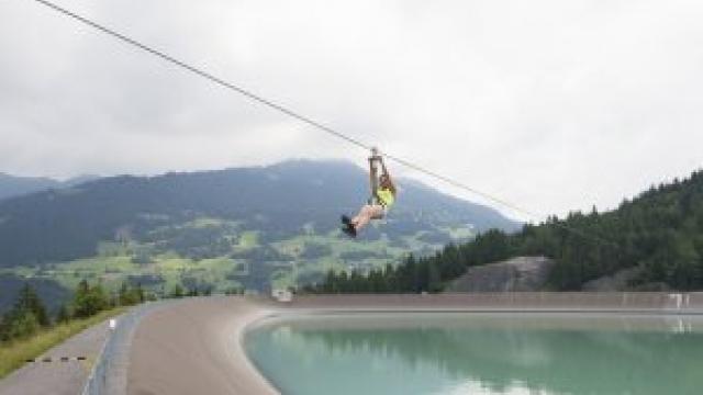 Flying-Fox-Golm  in Vandans (c) Illwerke Tourismus