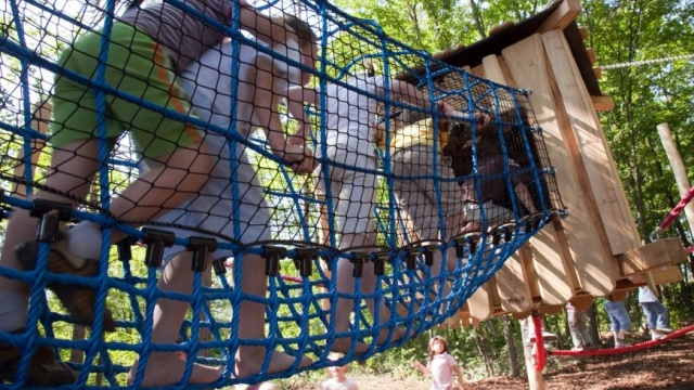 Abenteuerspielplatz im Nationalpark Thayatal